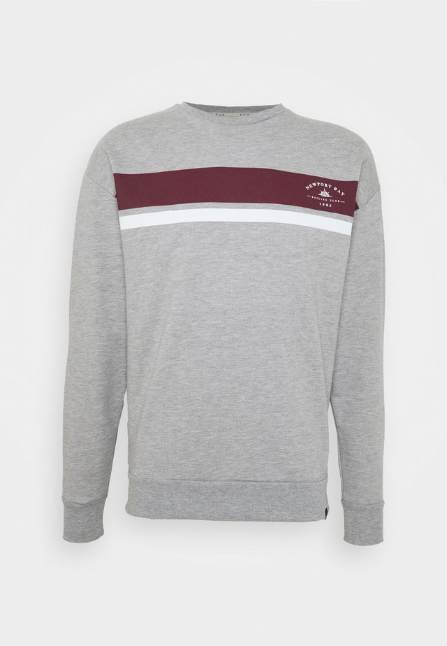 CHEST STRIPE - Sudadera - grey