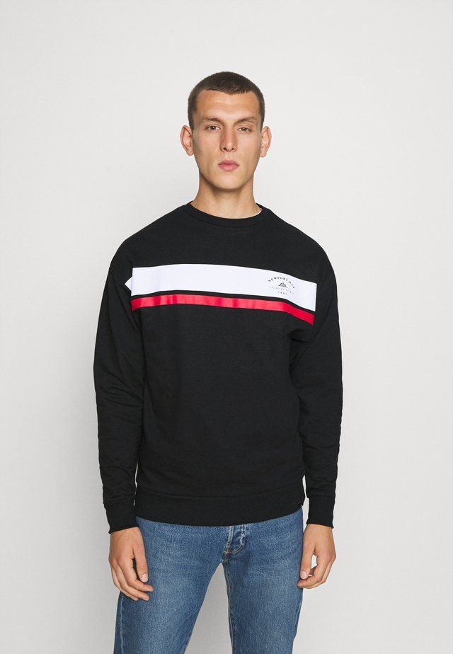 CHEST STRIPE - Sweatshirt - black