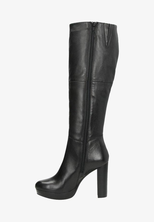 Laarzen met hoge hak - zwart