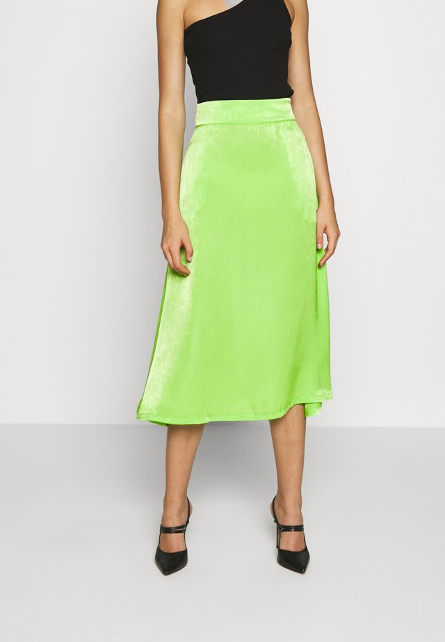 ACID GECKO INMATESKIRT - Pencil skirt - electric green