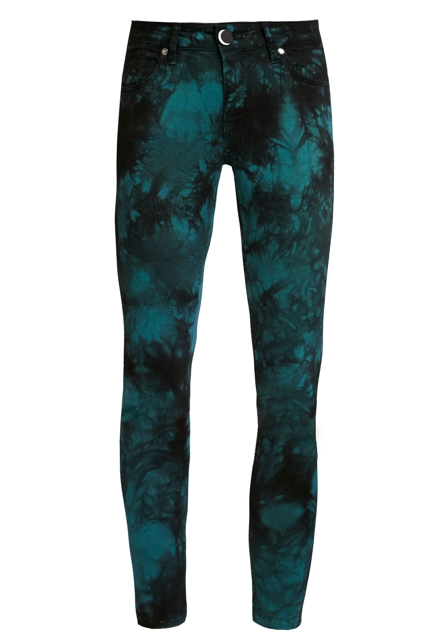 NGHTBRD TIE DYE LOVECHILD - Jeansy Skinny Fit - electric green
