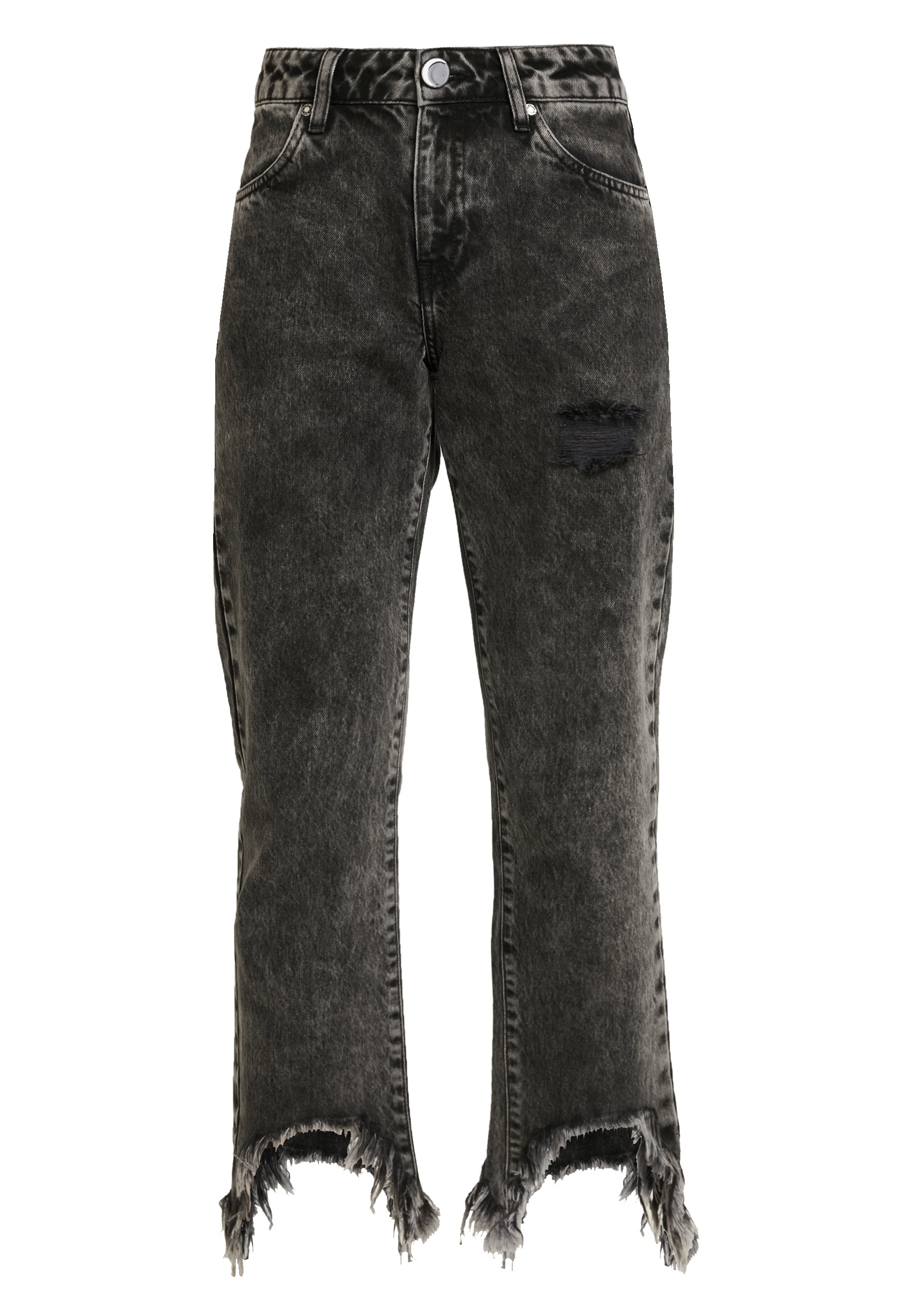 NGHTBRD WASHED OUT VOODOOCHILD - Jeans straight leg - black