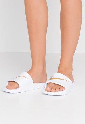 Pantofle - white/metallic gold