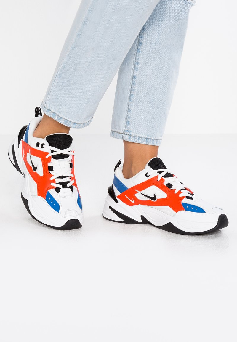 Nike Sportswear - M2K TEKNO - Sneaker low - summit white/black/team orange/mountain blue