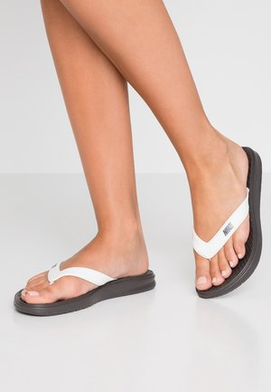 SOLAY THONG - Pool shoes - thunder grey/pale ivory