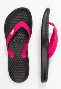 Nike Sportswear - SOLAY THONG - Boty do bazénu - black/white/vivid pink - 3