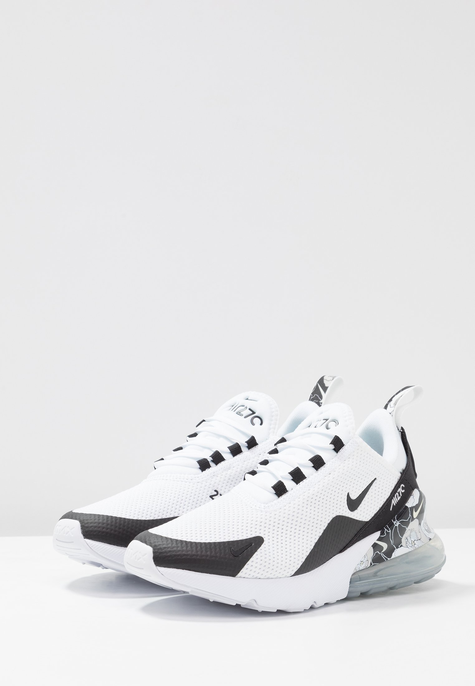 AIR MAX 270 Sneaker low whiteblackmetallic silver