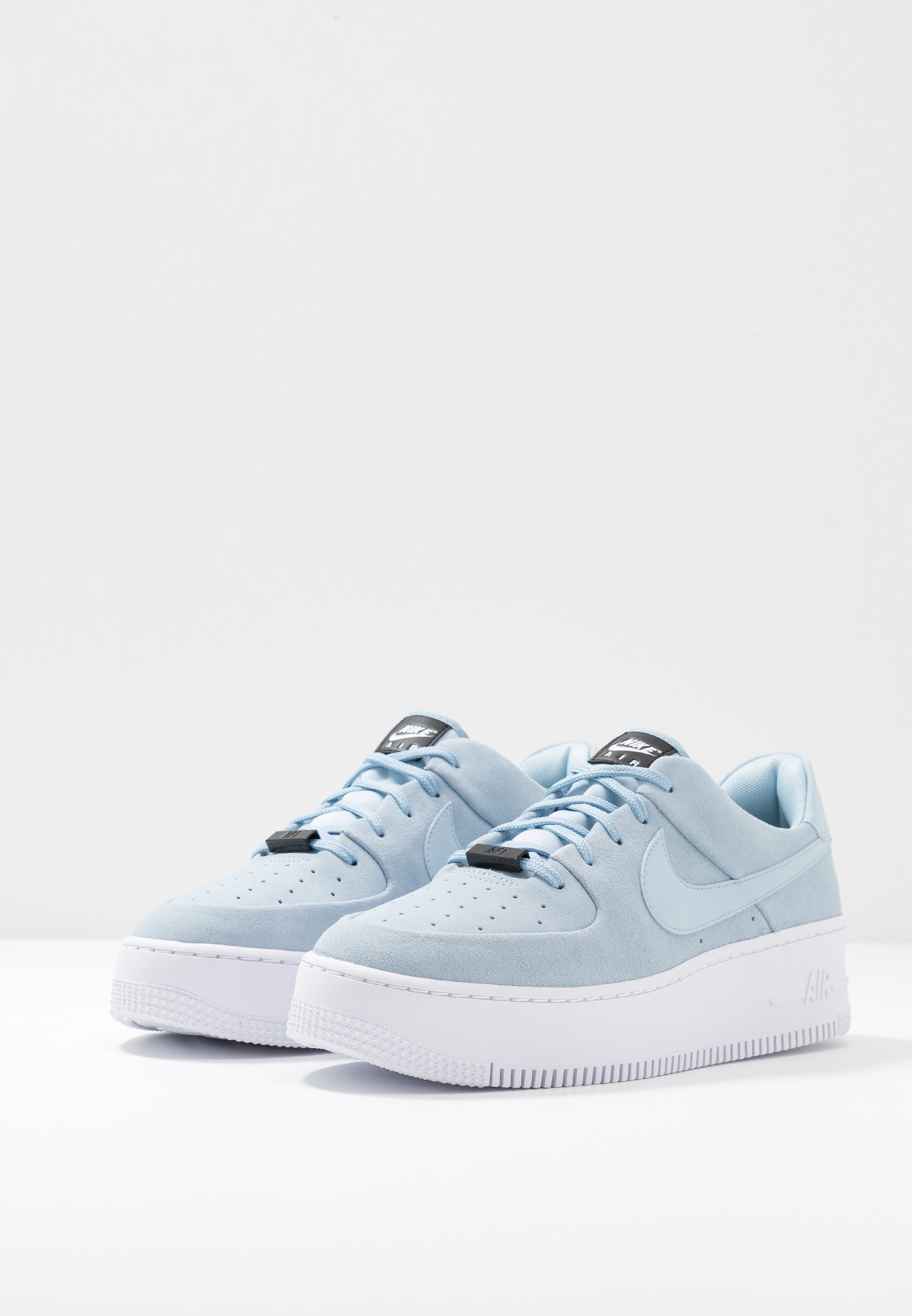 Nike Sportswear AIR FORCE 1 SAGE - Sneakersy niskie - light armory blue/blue/white
