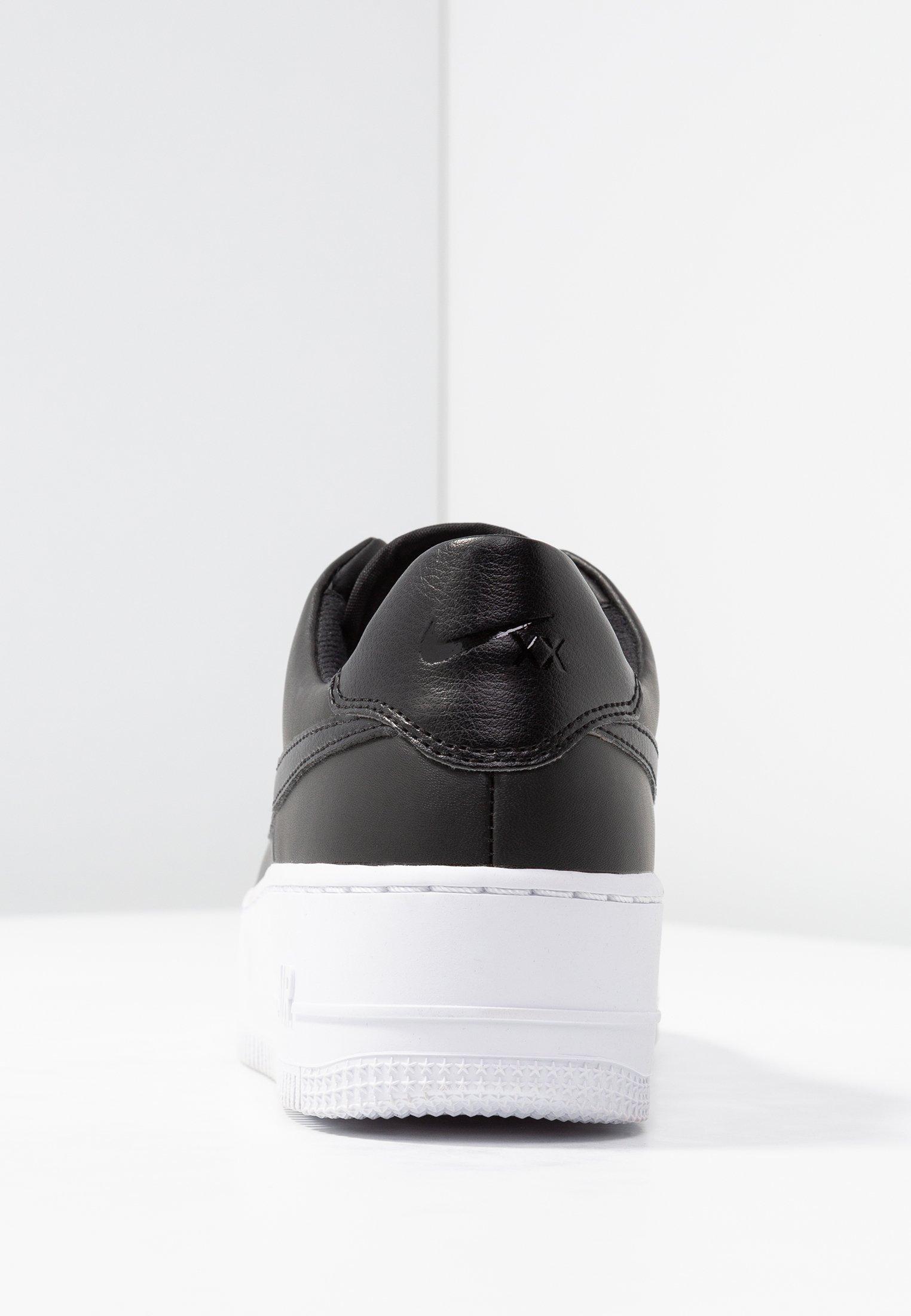 Nike Sportswear AIR FORCE 1 SAGE - Baskets basses - black/white