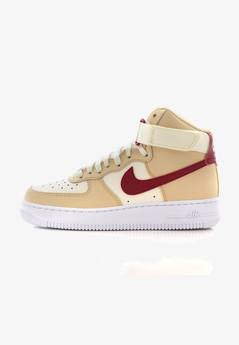 Nike Sportswear - AIR FORCE 1 - Sneakers hoog - noble red/pale ivory/white