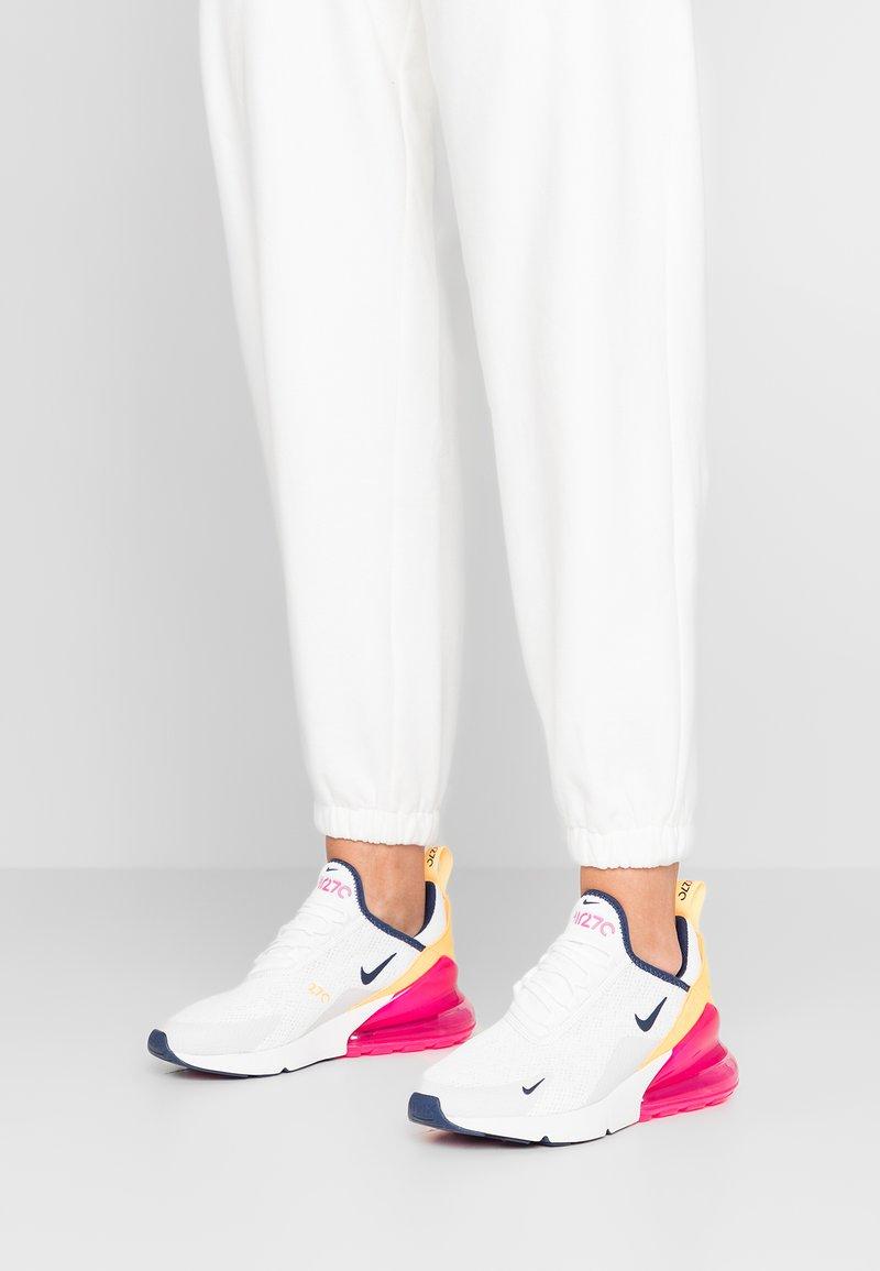 Nike Sportswear - AIR MAX 270 - Sneakers laag - summit white/midnight navy/laser fuchsia/platinum tint/laser orange