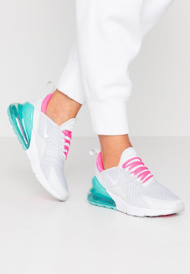 Nike Sportswear - AIR MAX 270 - Sneaker low - pure platinum/white/pink blast/aurora green