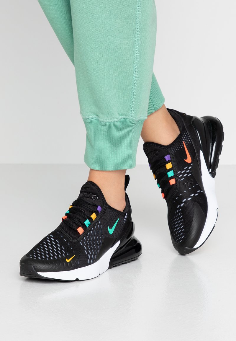 Nike Sportswear - AIR MAX 270 - Sneakers basse - black/flash crimson/universe gold/psychic purple/kinetic green/white