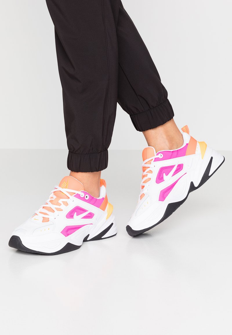 Nike Sportswear - M2K TEKNO - Sneakers - white/laser fuchsia/hyper crimson/laser orange/oil grey