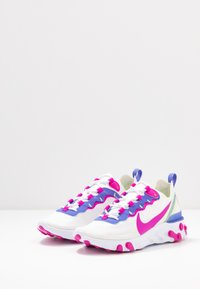 Nike Sportswear - REACT 55 - Trainers - white/fire pink/sapphire/barely volt - 4