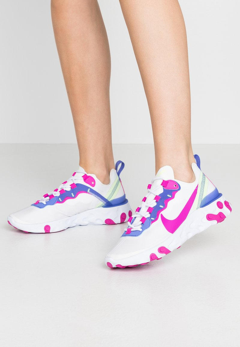 Nike Sportswear - REACT 55 - Trainers - white/fire pink/sapphire/barely volt