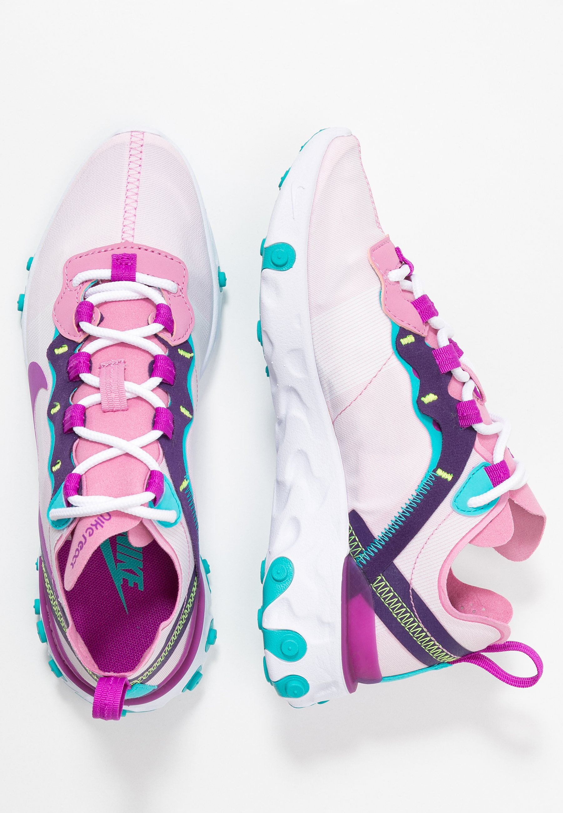 Nike Sportswear REACT 55 - Sneakers - flamingo/vivid purple/eggplant/oracle