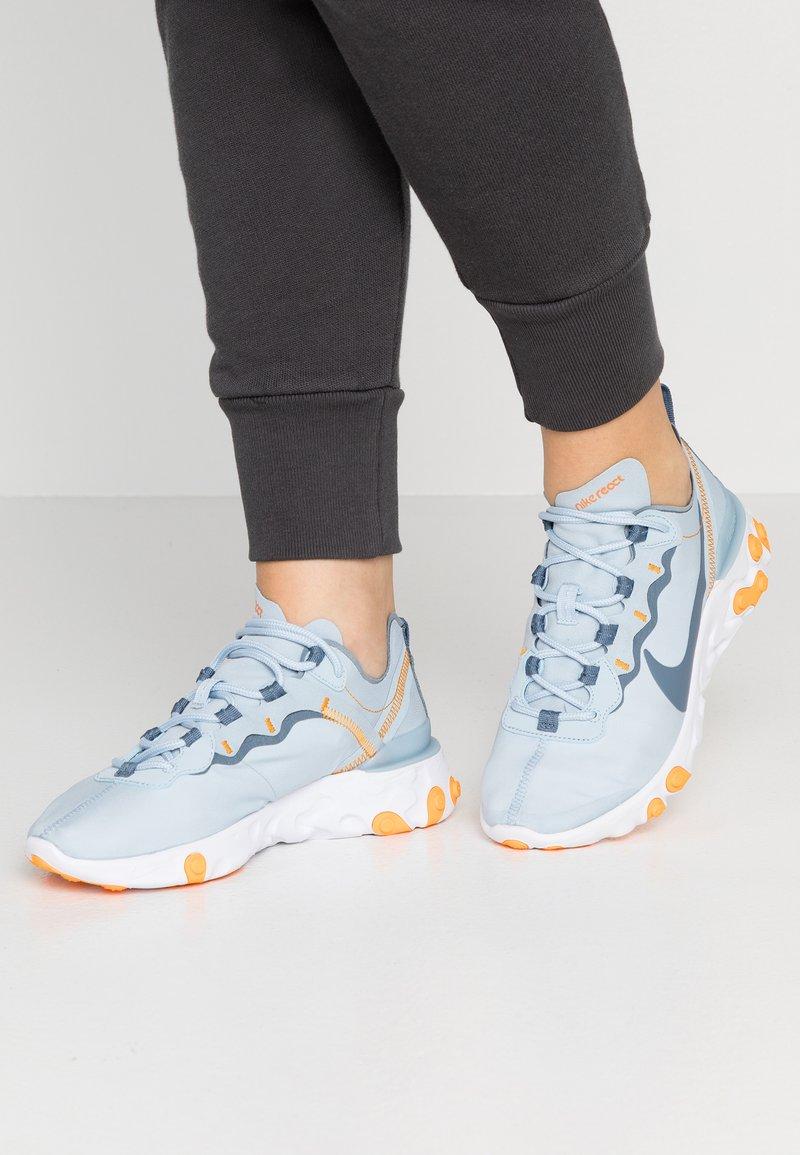 Nike Sportswear - REACT - Trainers - light armory blue/white/orange peel