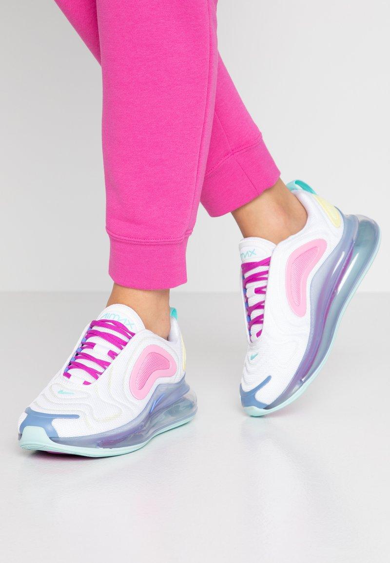 Nike Sportswear - AIR MAX 720 - Tenisky - white/light aqua/chalk blue/psychic pink/luminous green/hyper violet