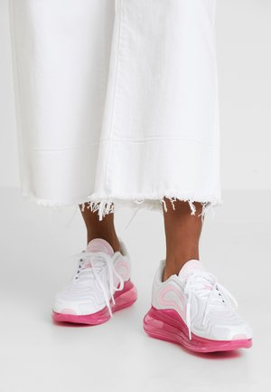 AIR MAX 720 - Sneaker low - white/pink rise/laser fuchsia