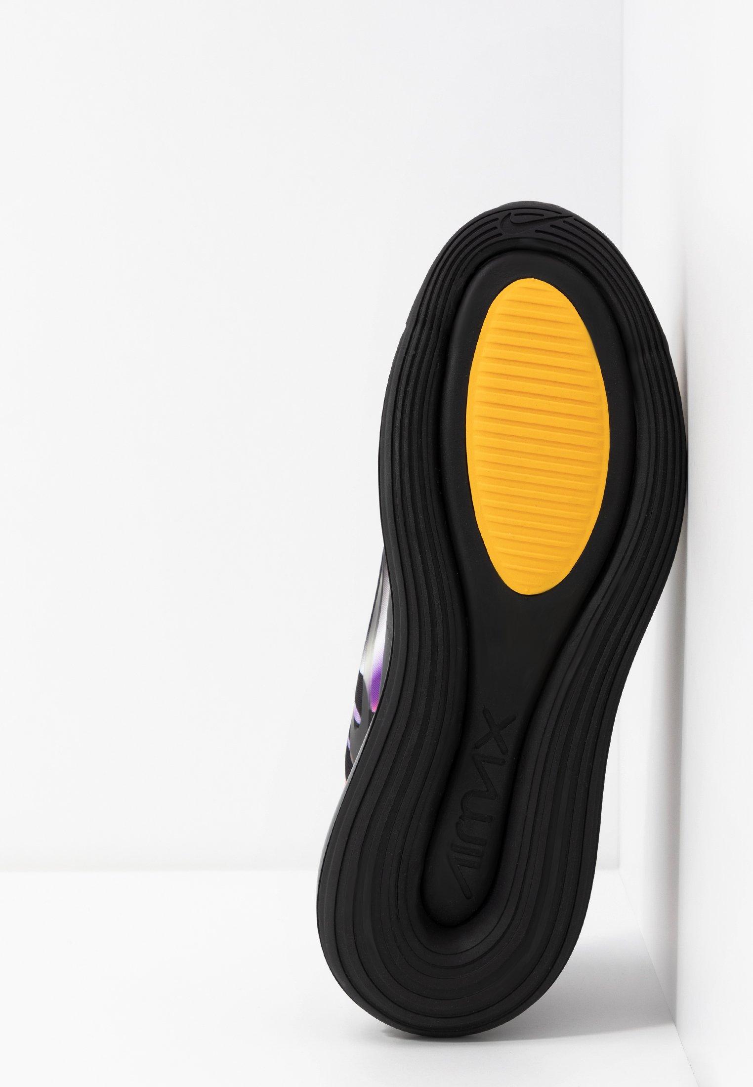 Nike Sportswear AIR MAX 720 - Baskets basses black/metallic silver/university gold/flash crimson/kinetic green/psychic purple