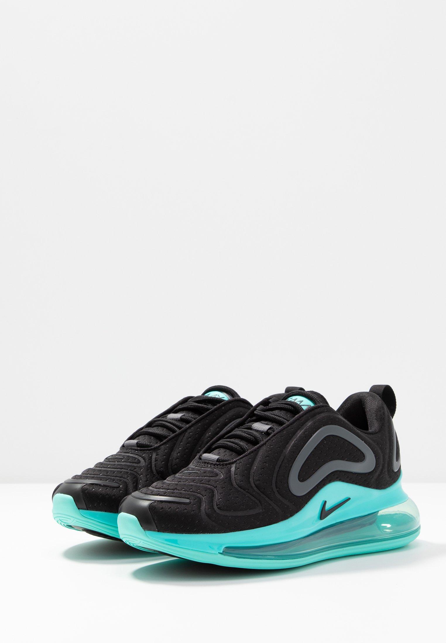 Nike Sportswear AIR MAX 720 - Sneakersy niskie - black/aurora green/dark grey