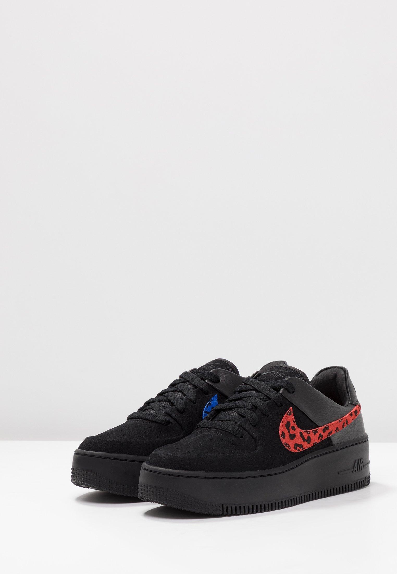 Force SageBaskets Air Red habanero Black 1 Nike Basses Sportswear zMpSVqU