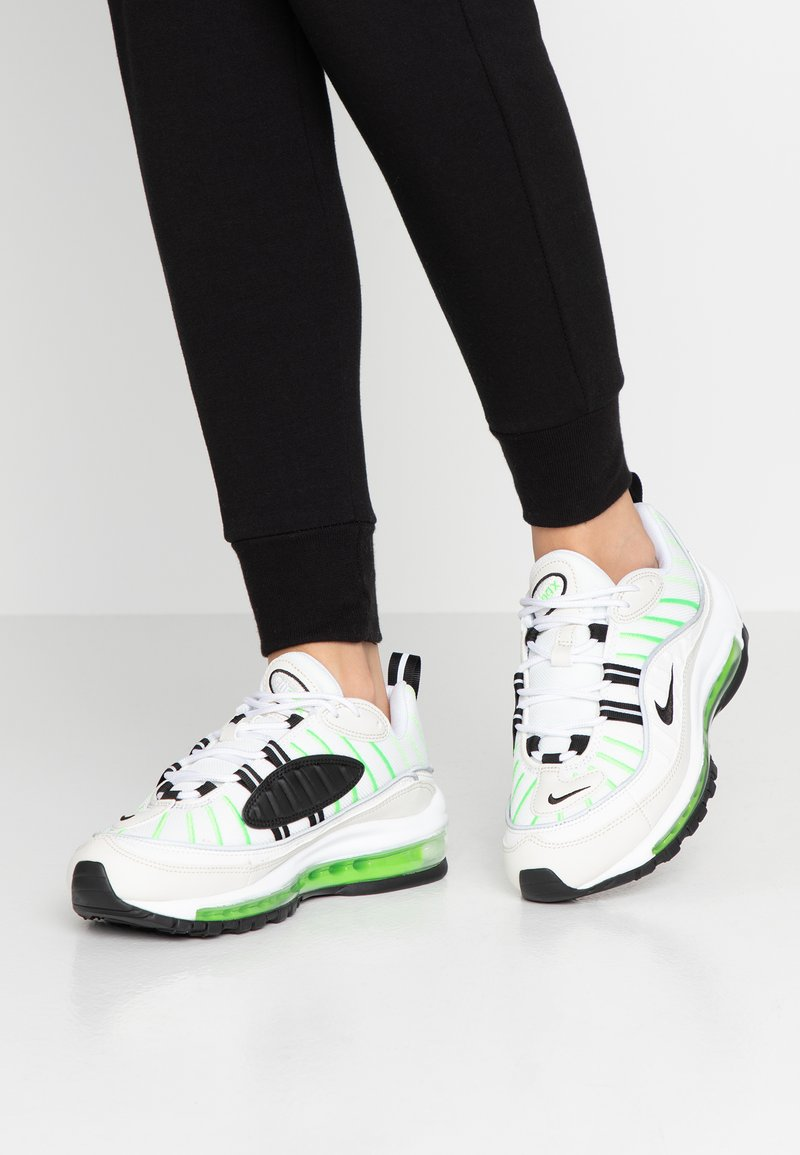 Nike Sportswear - AIR MAX 98 - Trainers - summit white/black/phantom/electric green