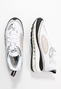 Nike Sportswear - AIR MAX 98 - Sneaker low - white/metallic silver/desert sand/black - 3