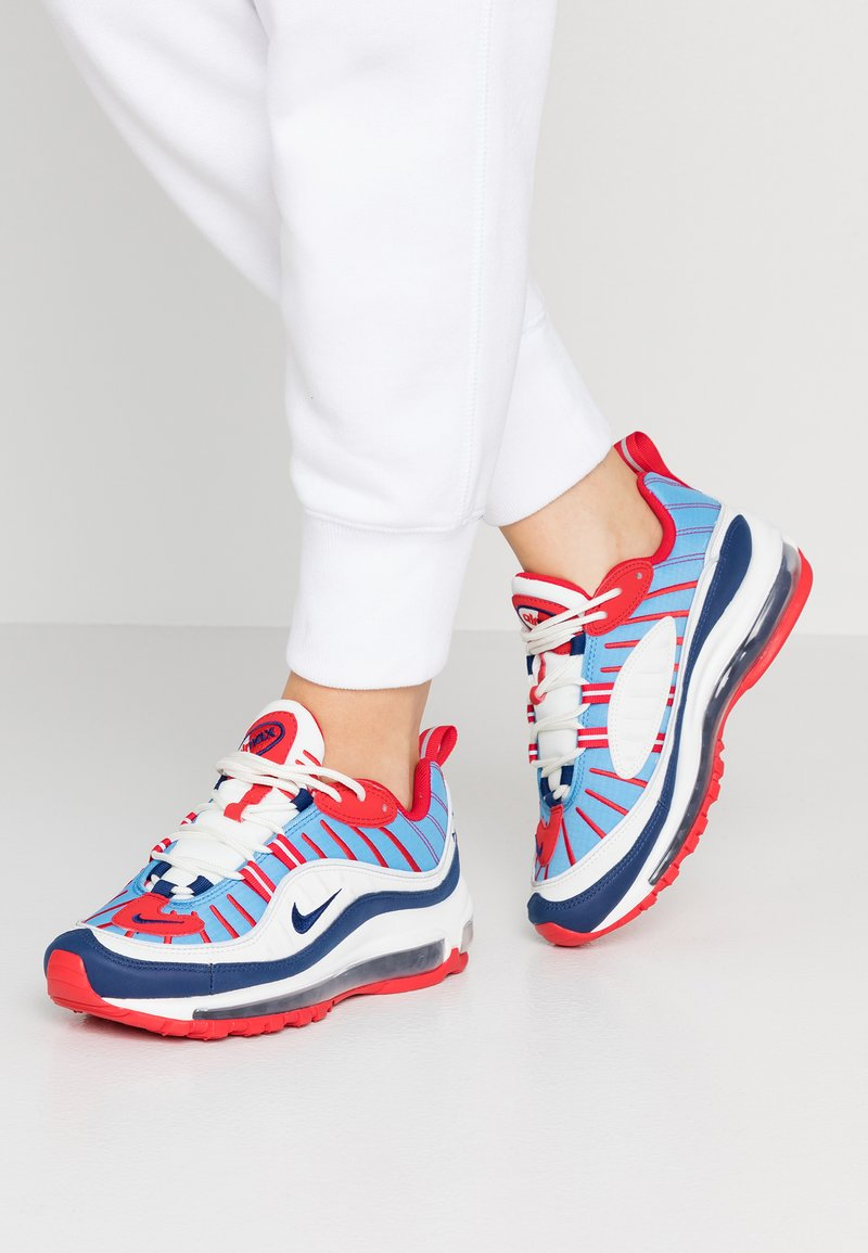 Nike Sportswear - AIR MAX 98 - Baskets basses - summit white/blue void/university red/reflect silver/university blue
