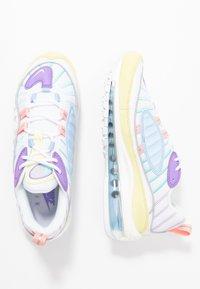Nike Sportswear - AIR MAX 98 - Tenisky - luminous green/white/atomic violet/bleached coral/psychic blue/light aqua - 3