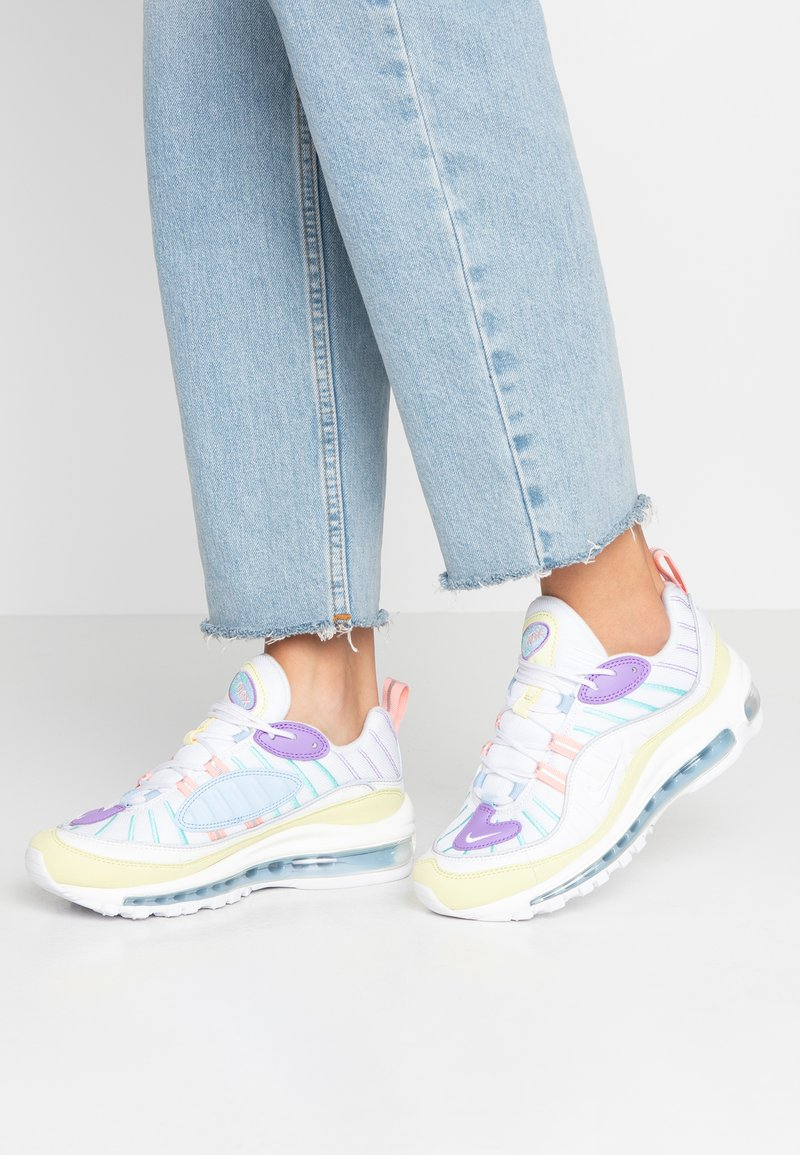 Nike Sportswear - AIR MAX 98 - Tenisky - luminous green/white/atomic violet/bleached coral/psychic blue/light aqua