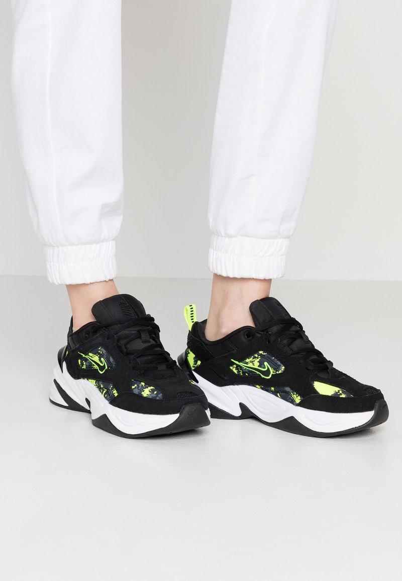 Nike Sportswear - M2K TEKNO - Trainers - black/anthracite/hyper pink/white/racer blue