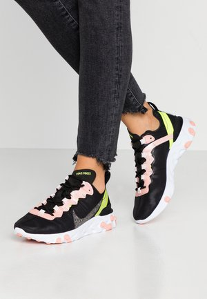 REACT ELEMENT 55 PRM - Trainers - black/volt/coral stardust/light soft pink/white