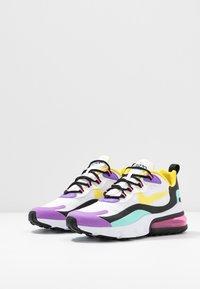 Nike Sportswear - AIR MAX 270 REACT - Sneakers laag - white/dynamic yellow/black/bright violet/aurora green/pink blast - 6