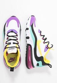 Nike Sportswear - AIR MAX 270 REACT - Sneakers laag - white/dynamic yellow/black/bright violet/aurora green/pink blast - 5