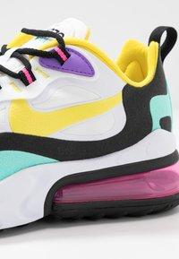 Nike Sportswear - AIR MAX 270 REACT - Sneakers laag - white/dynamic yellow/black/bright violet/aurora green/pink blast - 2