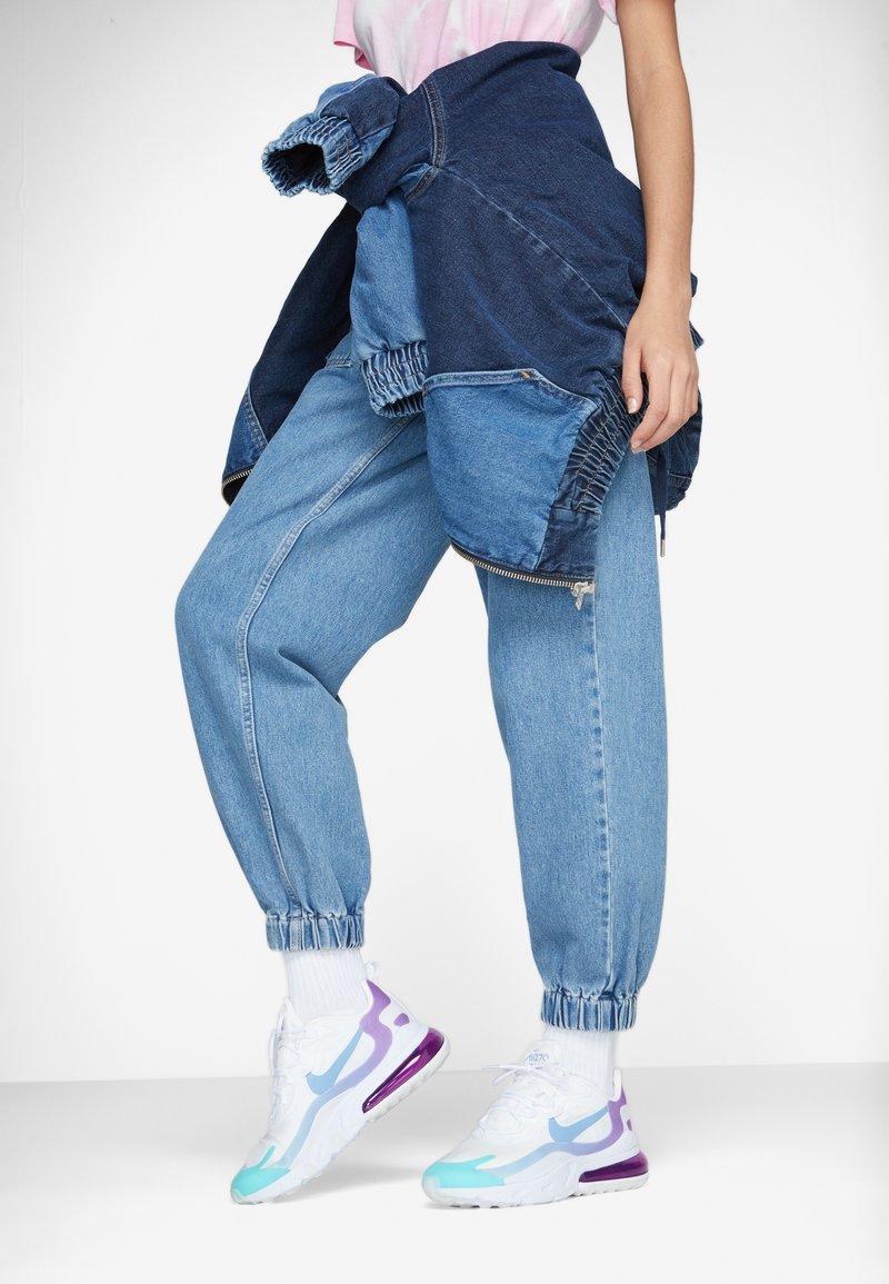 Nike Sportswear - AIR MAX 270 REACT - Trainers - white/light blue/aurora green/vivid purple