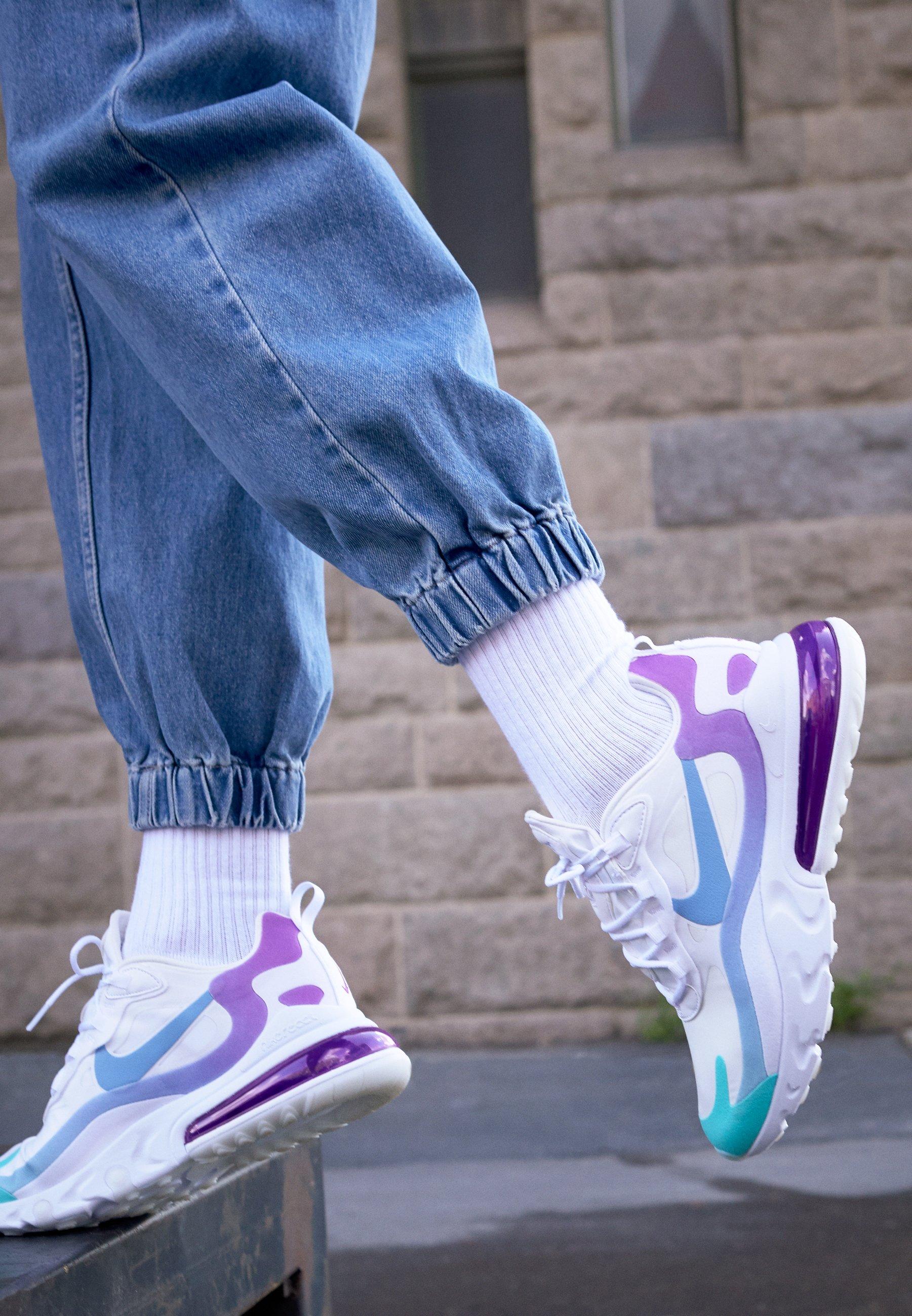 AIR MAX 270 REACT Sneaker low whitelight blueaurora greenvivid purple