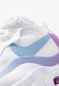 Nike Sportswear - AIR MAX 270 REACT - Matalavartiset tennarit - white/light blue/aurora green/vivid purple - 2