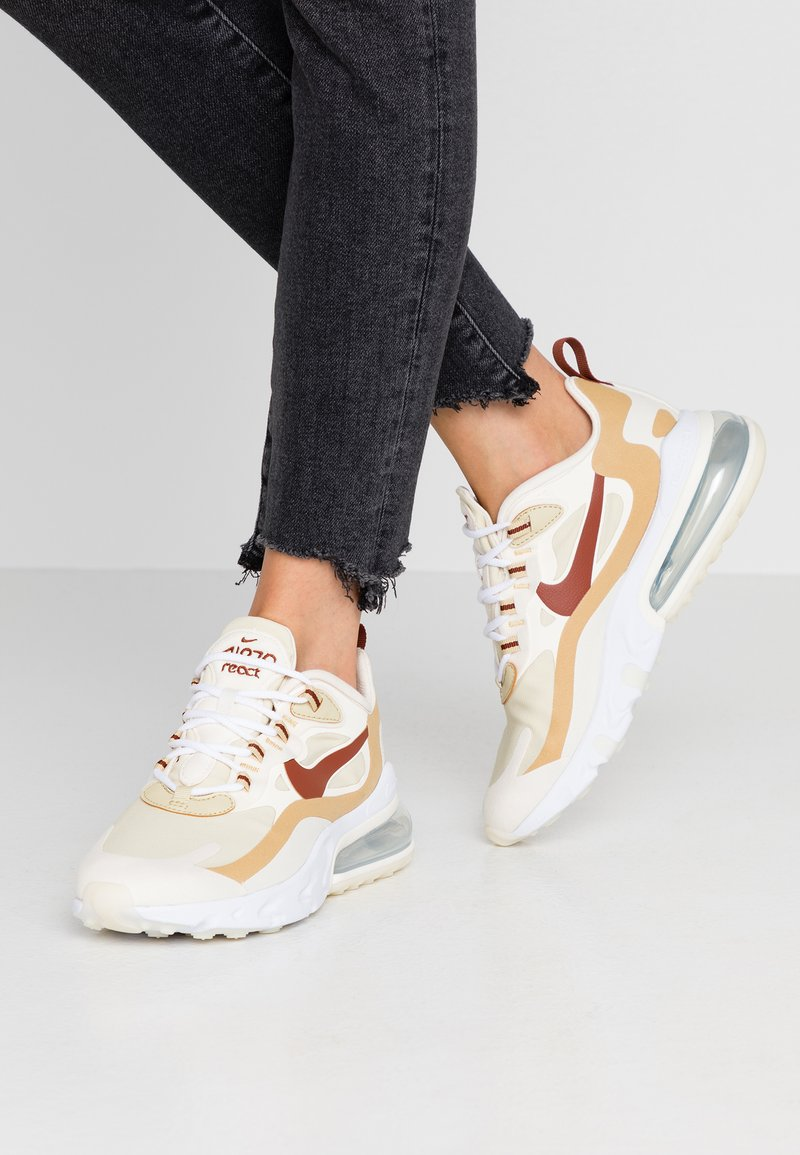 Nike Sportswear - AIR MAX 270 REACT - Sneaker low - team gold/cinnamon/club gold/pale ivory