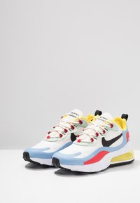 Nike Sportswear - AIR MAX 270 REACT - Sneakers laag - phantom/black/light blue/university red/dynamic yellow/pistachio frost - 6