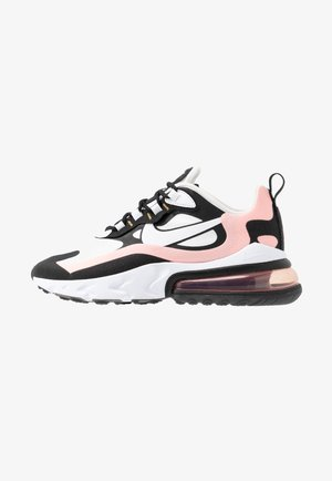 AIR MAX 270 REACT - Sneakers - black/white/bleached coral/metallic gold/university red