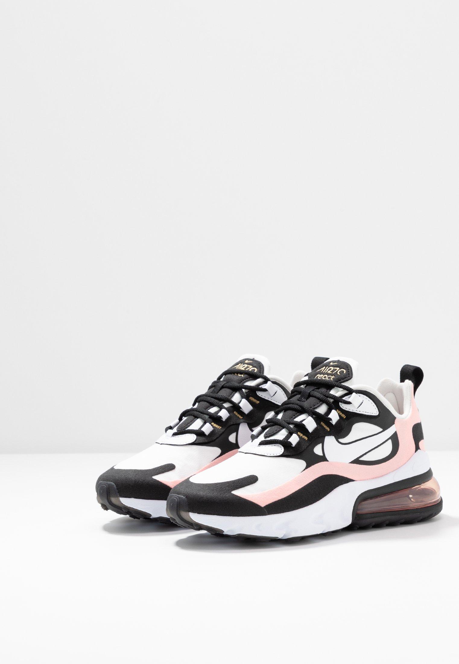 Nike Sportswear Air Max 270 React - Joggesko Black/white/bleached Coral/metallic Gold/university Red