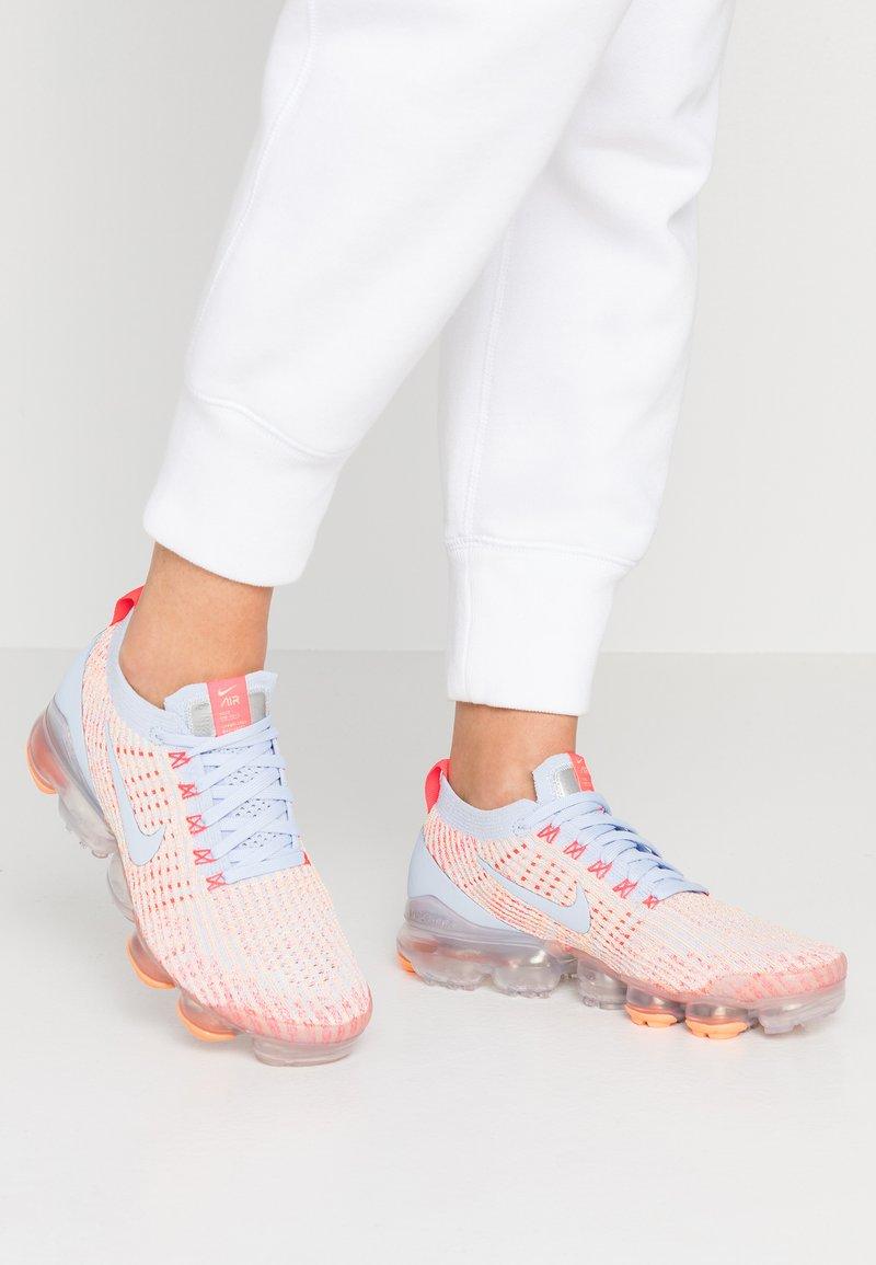 Nike Sportswear - AIR VAPORMAX FLYKNIT - Zapatillas - hydrogen blue/orange pulse/red orbit/barely volt/metallic silver