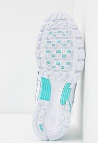 Nike Sportswear - P-6000 - Sneakers - white/black/metallic silver/light aqua - 8