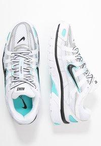 Nike Sportswear - P-6000 - Sneakers - white/black/metallic silver/light aqua - 5