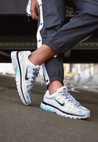 Nike Sportswear - P-6000 - Sneakers - white/black/metallic silver/light aqua - 4