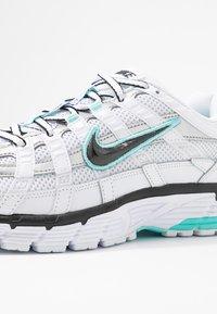 Nike Sportswear - P-6000 - Sneakers - white/black/metallic silver/light aqua - 2