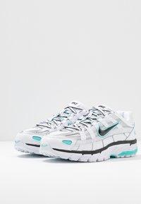 Nike Sportswear - P-6000 - Sneakers - white/black/metallic silver/light aqua - 6